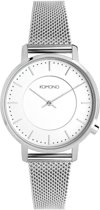 Komono Black Harlow Mesh horloge  - Zilverkleurig