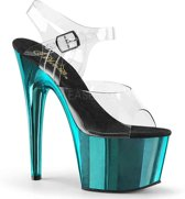 EU 38 = US 8   ADORE-708   7 Heel, 2 3/4 PF Ankle Strap Sandal