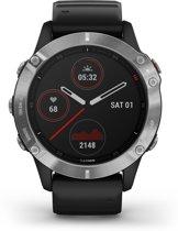 Garmin Fenix 6 - multisport horloge - 47 mm - Zilver/zwart