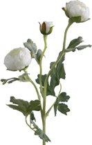 Viv! Home Luxuries - Ranonkel - zijden bloem - wit - topkwaliteit