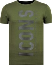 ICONS Vertical - T shirt Heren - Maten: