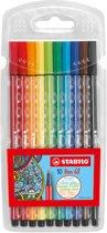 STABILO Pen 68 Viltstiften - Etui 10 stuks