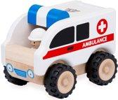 Wonderworld Houten speelgoedvoertuig Ambulance