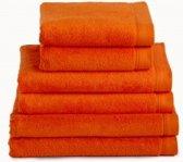 Handdoek 50x100 cm Uni Imperial Luxury Hotelkwaliteit Oranje - 6 stuks