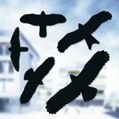 Vogelafweer stickers zwart - set van 10 stuks