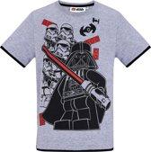 LEGO-Star-Wars-T-shirt-met-korte-mouw-grijs - Maat 116