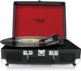 Vintage Vinyl kofferplatenspeler zwart - line-in