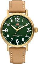 River Woods RW420022 Sacramento horloge Heren - Bruin - Leer 42 mm
