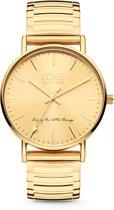 CO88 Collection 8CW-10058 - Horloge - Horloge - stalen elastische band - goudkleurig -  ø 36 mm