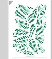 Bladeren patroon sjabloon - Kartonnen A5 stencil - Kindvriendelijk sjabloon geschikt voor graffiti, airbrush, schilderen, muren, meubilair, taarten en andere doeleinden