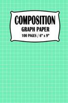 Composition Graph Paper Notebook: Seafoam Green Cover 100 pages 6 x 9 inch