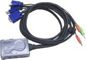 Hawking HKS112AU 2-poorts KVM + audio (PS/2 console / USB systemen)