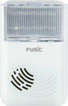Fysic FD-35 Telefoonbelversterker met extra luide bel en flitslicht   Extra telefoonbel met flitser   Luide bel en flitslicht zodra telefoonbel gaat   Ideaal voor slechtzienden en slechthorenden   wit