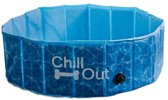 All For Paws Chill Out Hondenzwembad - Blauw - S: 80 x 80 x 25 cm