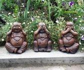 Three wise buddh'as brown