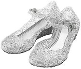 Prinsessen schoenen zilver maat 35 - Prinses Elsa/Anna -  (vallen 2 maten kleiner uit) - verkleedkleding
