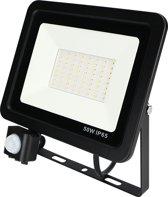 Led bouwlamp met sensor 50W koud-wit