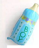 Blauwe Baby Flesje XL ballon - Kraamcadeau – Geboorte versiering – Geboorte ballonnen – Feest versiering – Baby Shower – Geboorte jongen