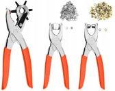 203 Delige drukknopen set met Revolvertang Oogjestang en Drukknopentang – 23x10cm | Gaatjestang