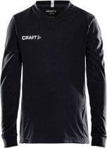 Craft Squad Jersey Solid LS Shirt Junior Sportshirt - Maat 122  - Unisex - zwart/wit Maat 122/128
