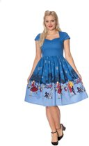 Dancing Days Flare jurk -XL- PARIS IN WINTER FIT AND FLARE Blauw