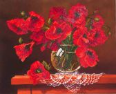 Diamond Dotz ® painting Red Poppies (50,8x40,6 cm) - Diamond Painting
