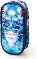 Delbag - Etui Ovaal - Blue Mask - voor Meisjes - 21 cm
