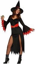 Halloween Kostuum Dames Heks Rood