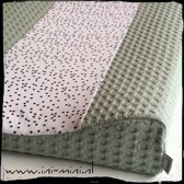 Aankleedkussenhoes Dotty/ Dusty Mint - Bebe jou (44x72x9)