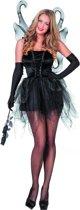 Vlinder jurk zwart met vleugels maat 40