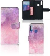 Motorola Moto E6 Plus Hoesje Pink Purple Paint