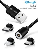3-in-1 Magnetische - Laadkabel - 360 graden - magneet met Lightning /Micro-USB/USB-C adapter - 2019
