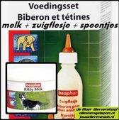 beaphar voedingsset zuigflesje + kitty melk 200 g.