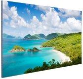 FotoCadeau.nl - Caribische eilanden en stranden Aluminium 90x60 cm - Foto print op Aluminium (metaal wanddecoratie)