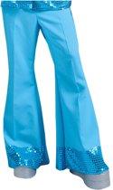 Blauwe disco broek voor mannen - Verkleedkleding - Maat XL