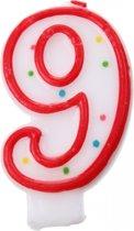 Amscan Verjaardagskaars Nummer 9 Rood