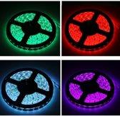 Waterdichte lichtslang, lengte: 5m, kleurrijk licht 5050 SMD LED met 24-toetsen afstandsbediening, 30 LED / m, 12V 5A