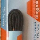 2.5 mm x 45 cm Zwart - Dunne ronde schoen veter 75% katoen 80