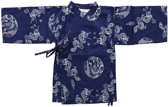jongens Blouse Lucky Wang NY Jongens Kimono Blauw met draken ls - LW72 - Maat 62 7091024883628