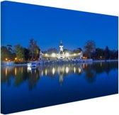 De Retreat bij nacht Canvas 30x20 cm - Foto print op Canvas schilderij (Wanddecoratie)