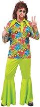 Groen hippiekostuum voor mannen - Volwassenen kostuums