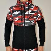 Fitness Vest Fleece | Camo Rood (XL) - Disciplined Sports