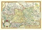 Landkarte. Die Länder Thüringen und Sachsen 1570
