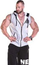 Bodybuilding Rits Tank Top Lichtgrijs - Nebbia Hard Core Regtop Zipper 316