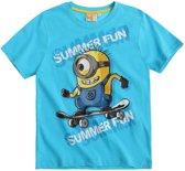 Minions-T-shirt-met-korte-mouw-blauw-maat-128