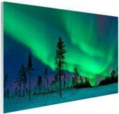Noorderlicht boven Zweden Glas 30x20 cm - Foto print op Glas (Plexiglas wanddecoratie)