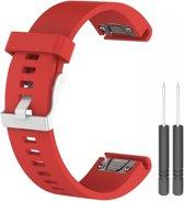 Just in Case Siliconen bandje - Garmin Fenix 3 (HR) - rood