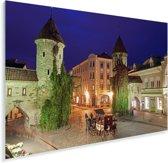 Mooie verlichting in het Stadshart van Tallinn Plexiglas 180x120 cm - Foto print op Glas (Plexiglas wanddecoratie) XXL / Groot formaat!