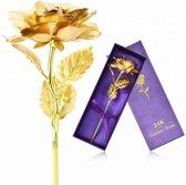 Gouden Roos 24k - Met Luxe Doos en Geschenkverpakking - Valentijnsdag Tip - Cadeautip