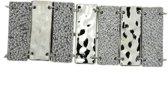 Brede armband zilver-kleur